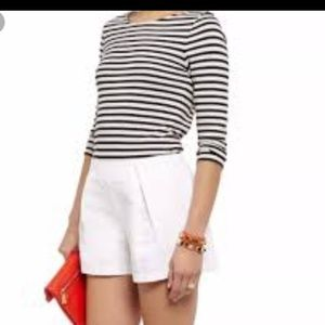 Tory Burch Georgina white linen/cotton shorts 14